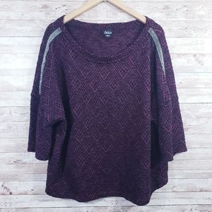 Simply Emma Plus Size 3/4 Sleeve Knit sweater